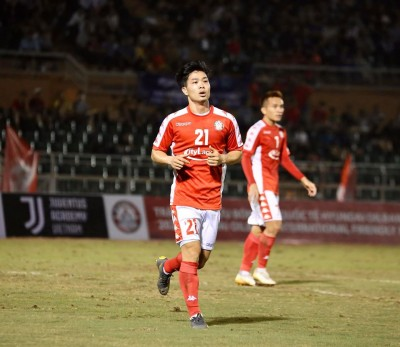 Cong Phuong started the match in Ho Chi Minh City against K-League runner-up